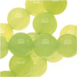 Olive Green Serpentine Gem Round Beads 6mm - 15 Inch Strand