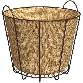 Panacea Products 3Qt Rustic Bushel Basket 84275 Unit: EACH
