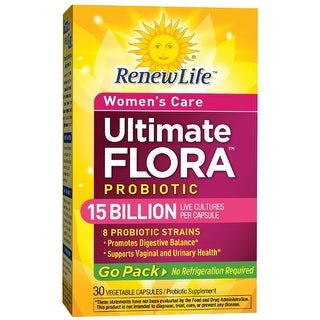 Renew Life Ultimate Flora Women's Care Probiotic Go Pack 15 Billion (formerly RTS Women's), 30 Count