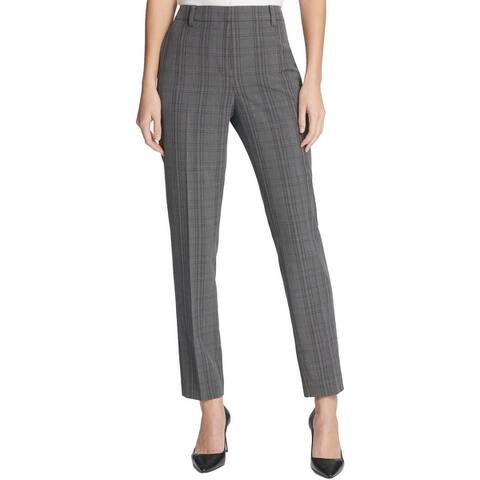 DKNY Womens Skinny Pants Plaid Slim Fit