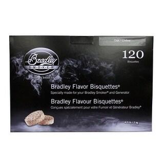 Bradley Smoker Btok120 Oak Flavoured Bisquettes Pack Of 120