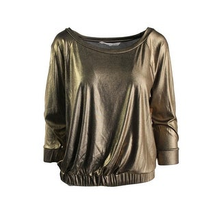 Rachel Rachel Roy Womens Satin Shimmer Pullover Top