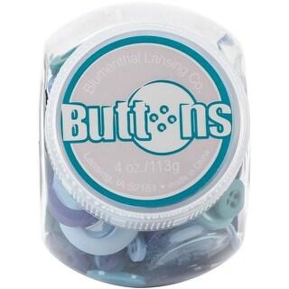 Button Jar 4Oz-Blue