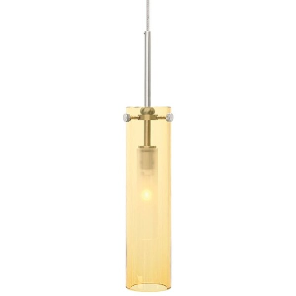 Lbl Lighting Top Si Coax Amber Monorail 1 Light Track Pendant