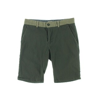 Ambig Mens Twill Contrast Trim Casual Shorts - 36