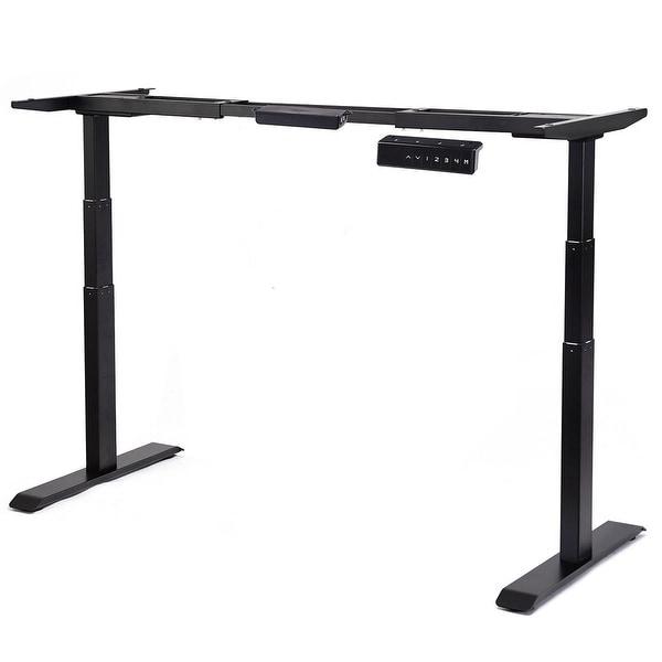 Shop Gymax Electric Height Adjustable Standing Desk Frame ...
