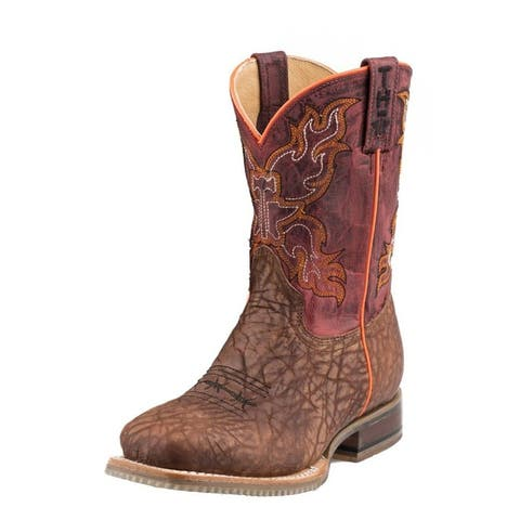 Tin Haul Western Boot Boys Wild Bull Tan