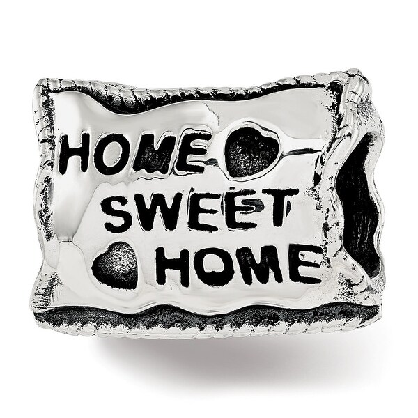 Sterling Silver Reflections Home Sweet Home Bead (4.5mm Diameter Hole)