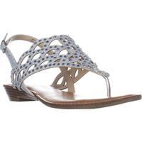 ZiGiSoho Mariane Flat Thong Sandals, Silver