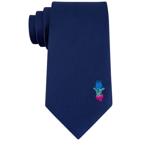 Dreamworks Mens Branch Panel Self-tied Necktie, blue, Classic (57 To 59 in.) - Classic (57 To 59 in.)