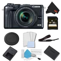 Canon EOS M6 Mirrorless Digital Camera with 18-150mm Lens Basic Bundle w/ 32GB Memory Card - Intl Model