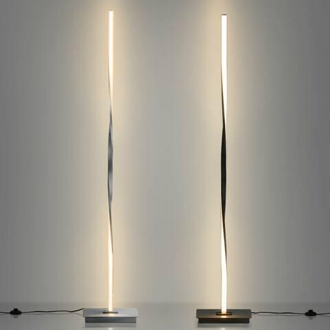 "48"" Helix LED Floor Lamp Modern Standing Pole Light - 9"" x 5.5"" x 48""(L x W x H)"