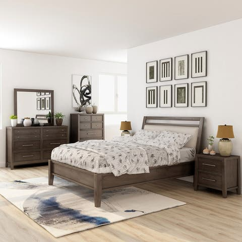 Furniture of America Ninn Transitional Grey 6-piece Bedroom Set
