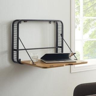 Link to Carbon Loft 24-inch Wall Mount Drop Down Lap Top Desk Similar Items in Desks & Computer Tables