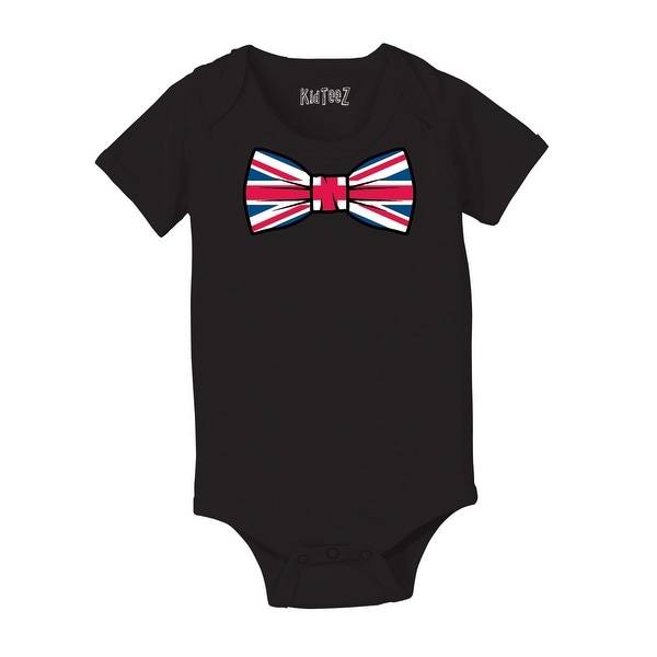 4e3e20ac431ed Shop Union Jack Oversized Vintage Bowtie Tee London British Britain Uk Baby  One Piece - Free Shipping On Orders Over $45 - Overstock - 24150108