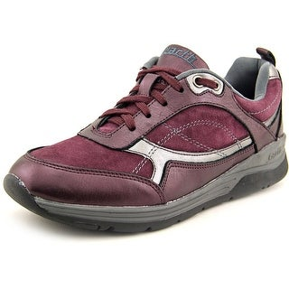 Earth Traveler Women Round Toe Suede Burgundy Sneakers