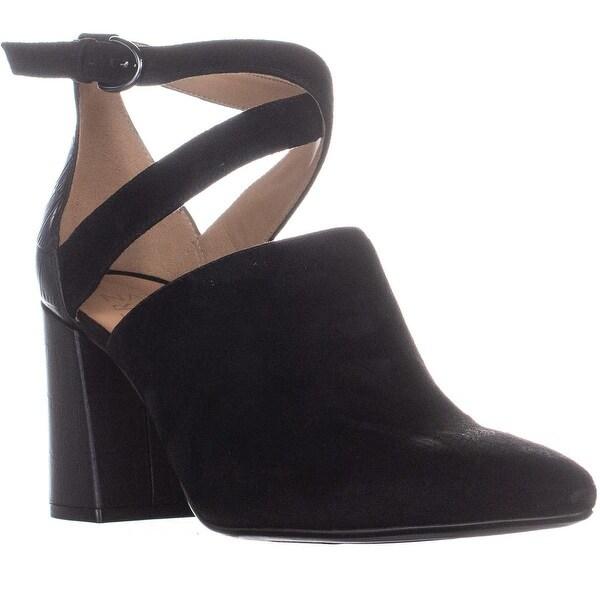 4c19ff77e1 Shop naturalizer Holland Strappy Buckle Heels, Black - 9 us / 39 eu ...