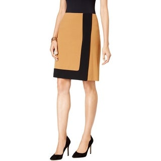 Nine West Womens A-Line Skirt Crepe Framed