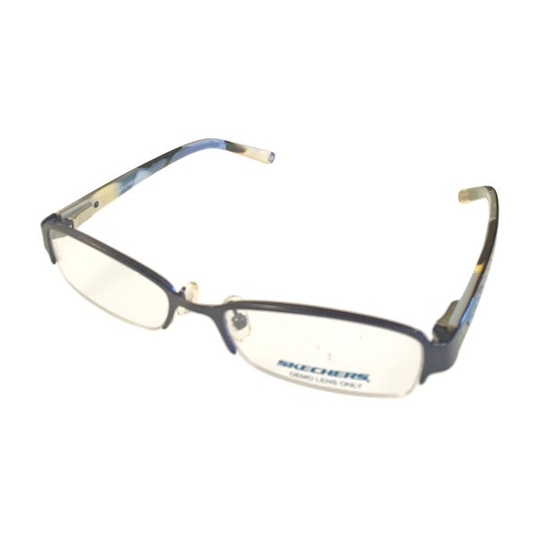 Skechers Ophthalmic Womens Eyeglass Frame Metal Rimless Rectangle SK2026 Sea Blue - multi blue - Med