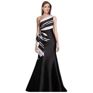 Sachin + Babi Noir Rosalynn One Shoulder Bow Detail Evening Gown Dress - 8