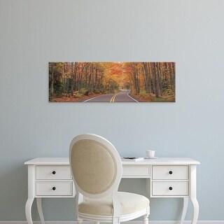 Easy Art Prints Panoramic Images's 'Route 41 Keweenaw Peninsula near Copper Harbor MI USA' Premium Canvas Art