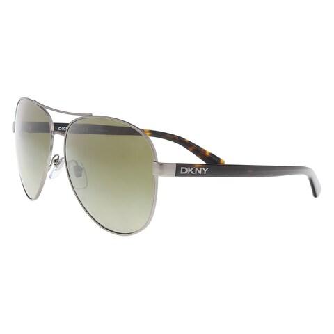 DKNY DY5084 123413 Satin Gunmetal/ Tortoise Aviator Sunglasses - 61-14-140