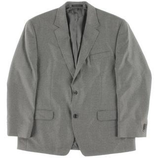 MICHAEL Michael Kors Mens Houndstooth Double Vent Two-Button Suit Jacket - 44S
