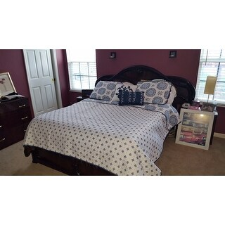 Home Fashion Designs Filigree Collection 5-Piece Quilt Set with Shams and Decorative Pillows