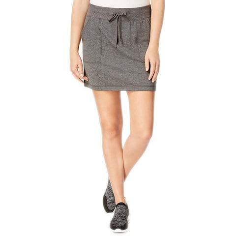 Ideology Women's Heathered Skirt, Charcoal Heather (Charcoal Heathr XXL)