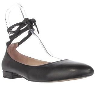 Franco Sarto Becca Ankle Strap Ballet Flats, Black