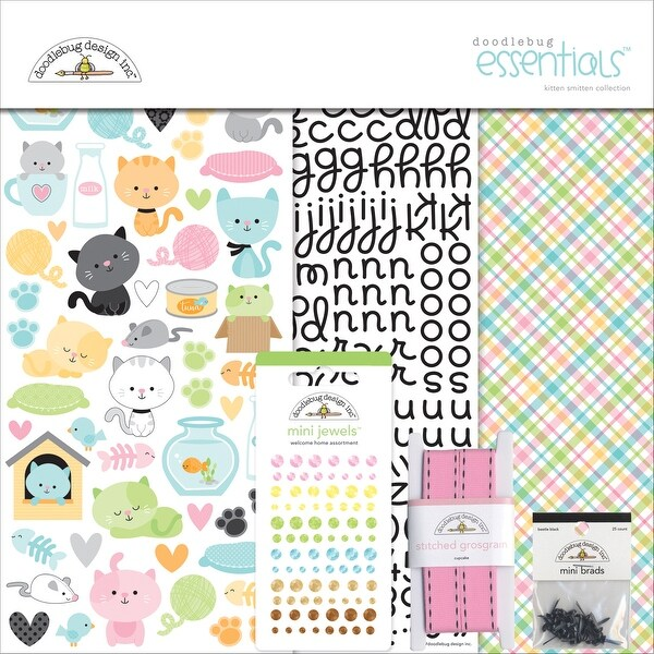 "Doodlebug Essentials Page Kit 12""X12""-Kitten Smitten"