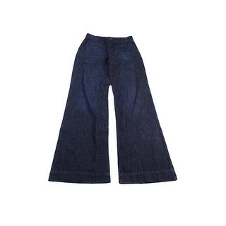 Lauren Jeans Co. Blue Wide-Leg Jeans