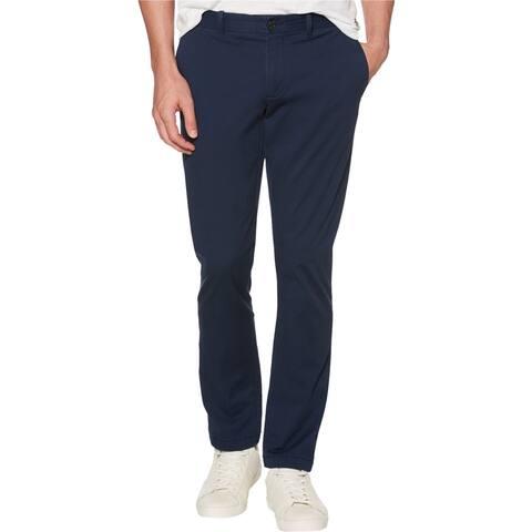 Penguin Mens Slim Fit Stretch Dress Pants Slacks, Blue, 29W x 32L - 29W x 32L