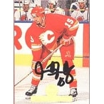 Sandy McCarthy Calgary Flames 1994 Leaf Autographed Card Rookie Card This item comes with a certificate of authenti