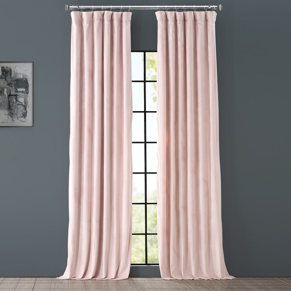 Exclusive Fabrics Heritage Plush Velvet Single Curtain Panel. Opens flyout.