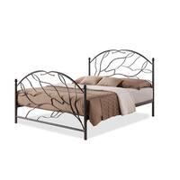 Zinnia Tree Style Antique Bronze Metal Platform Bed (Queen)
