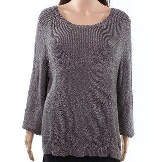 Eileen Fisher NEW Brown Womens Size XL Ballet Neck Knitted Sweater