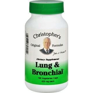 Christopher's Original Formulas Lung and Bronchial Formula 100 Vegetarian Capsules