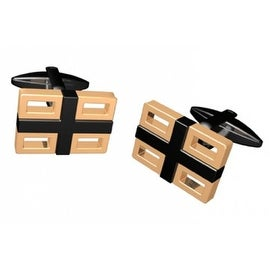 Two-Tone Grid Cufflinks