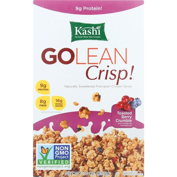 Kashi Cereal - Multigrain - Golean - Crisp - Toasted Berry Crumble - 14 oz - case of 12