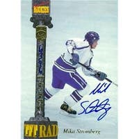 Mika Stromberg Autographed Hockey Card Quebec Nordiques 1994