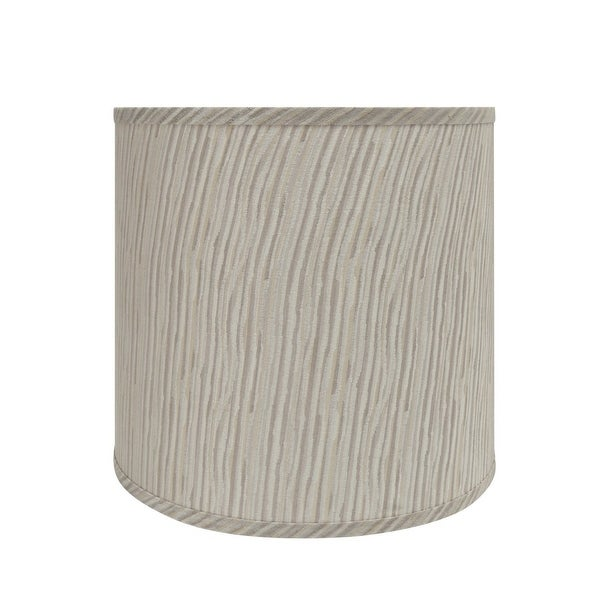 """Aspen Creative Drum (Cylinder) Shaped Spider Construction Lamp Shade in Striped (12"""" x 13"""" x 12""""). Opens flyout."""