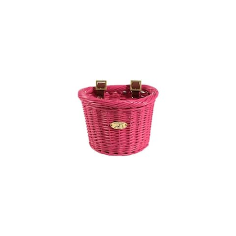 Nantucket bike baskets n/010/c nantucket bike baskets nantucket gull & buoy - pink