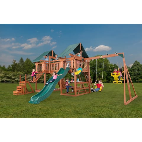 Jungle Fun Complete Wooden Playset