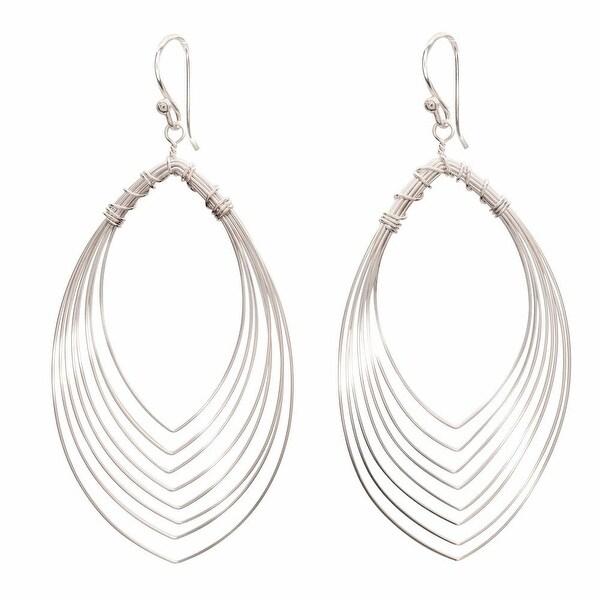 """Women's Eye Of The Peacock Sterling Dangle Earrings - Sterling Silver - Hangs 2"""""""