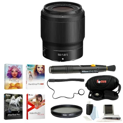 Nikon NIKKOR Z 50mm f/1.8 S Lens with Deluxe Accessory Bundle