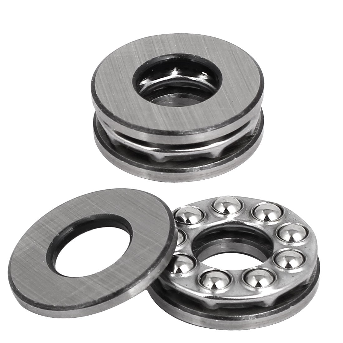 24mmx10mmx9mm Single Row Thrust Ball Bearing Silver Gray 51100 2pcs