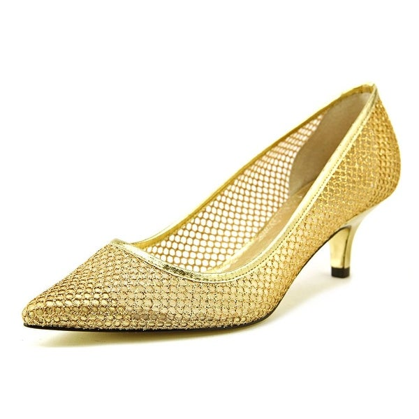 Adrianna Papell Lois Women Gold Pumps