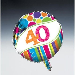 "Pack of 10 Bright and Bold Metallic ""40"" Foil Party Balloons"