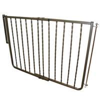 "Cardinal Gates Wrought Iron Decor Hardware Mounted Pet Gate Extension Bronze 10.5"" x 1.5"" x 29.5"""